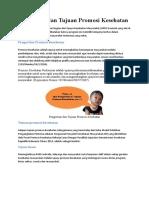 Pengertian dan Tujuan Promosi Kesehatan