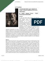 LA POSMODERNIDAD; NUEVO RÉGIMEN DE VERDAD, VIOLENCIA METAFÍSICA Y FIN DE LOS METARRELATOS  _ Dr. Adolfo Vásquez Rocca UCM
