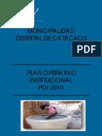 PLAN OPERATIVO INSTITUCIONAL 2010