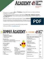 Summer Academy Flyer 2