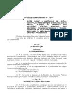 ANTEPROJETO DOS PLANOS DE CARREIRA