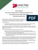 Interventions artistiques dans les établissements médico-sociaux du territoire de Lannion-Trégor Communauté Juillet-Août-Septembre 2021