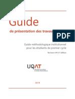 Guide de présentation de travaux écrits