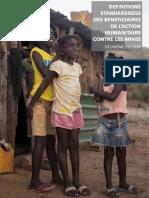 Definitions Standardisees des Bénéficiaires De L'Action Humanitaire Contre les Mines:Deuxième Edition [Francais]
