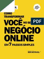eBook Como Transformar VOCE Em Negocio Online