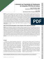 Efeito Da Degradação Ambiental Nas Propriedades de Cisalhamento de Compósitos PPS-Fibra de Carbono