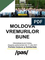 MOLDOVA VREMURILOR BUNE - PROGRAM ELECTORAL PAS