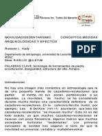 MOVILIDAD SEDENTARISMO_CONCEPTOS, MEDIDAS ARQUEOLÓGICAS Y EFECTOS - Kelly