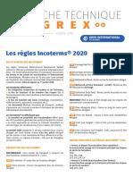 Les Regles Incoterms 2020