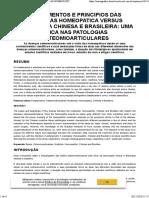 FUNDAMENTOS E PRINCIPIOS DAS MEDICINAS HOMEOPATICA VERSUS FITOTERAPIA CHINESA E BRASILEIRA UMA ÓTICA NAS PATOLOGIAS OSTEOMIOARTICULARES