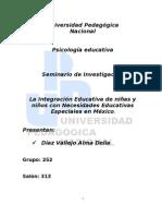 EDUCACIÓN ESPECIAL - INTEGRACION EDUCATIVA
