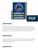 3 - Camadas de aplicação e transporte