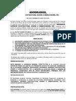 400GRADOS, ACTA CONSTITUTIVA