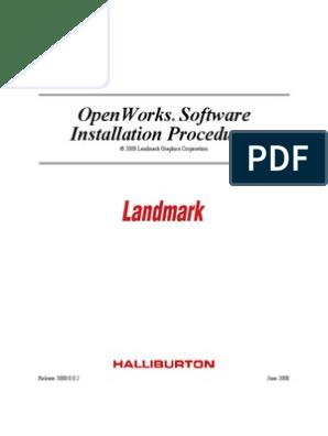 Openworks Software Installation Procedure   64 Bit Computing