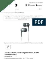 AKG IP2 IE Auricular in-ear profesional