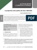 La Progresiva Crisis Política Del Perú 1980-2020 - Bermúdez