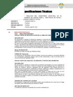 1 ESPECIFICACIONES TECNICAS  PROVISIONALES Y CERCO - CEMENTERIO  - CIUDAD NUEVA