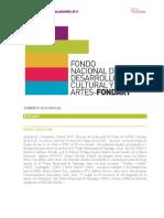 Reseñas Fondart Nacional 2011