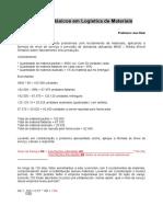 Cálculos básicos em Logística de Materiais