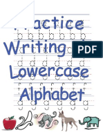 Printable Practice Writing the Lowercase Alphabet Activity