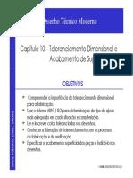 A - Tolerâncias Dimensionais e Acabamentos Superficiais