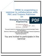 Seminar CAD On 18th March 2011