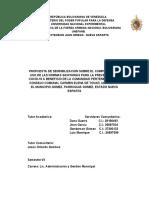 Anteproyecto Propuesta de Sensibilizacio Sobre El Cumplimiento y Uso de Las Normas Sanitarias Para La Prevencion de Covid19 a Beneficio de La Comunidad Perteneciente Al Consejo Comunal Carmen Elena de Tovar