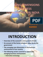 CHANGING DIMENSIONS IN BUSINESS IN INDIA- Presentation by ANSHUL,ARUSHI  AND ASHISH