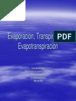 DOCUMENTO - EVAPORACIÓN  TRANSPIRACIÓN Y EVAPOTRANSPIRACIÓN - U DE SONORA - 2007