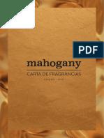 Mahogany - Carta de Fragrâncias - Digital
