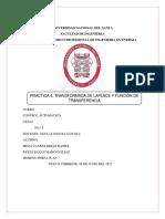 Practica 4. TRANSFORMADA DE LAPLACE Y FUNCIÓN DE TRANSFERENCIA