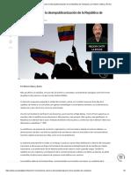 Anotaciones sobre la desrepublicanización de la República de Venezuela, por Nelson Chitty La Roche