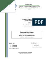 Modele et structure du rapport de stage ISTA NTIC SYBA(TRI)