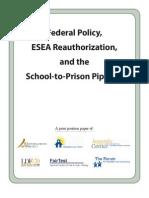 Advancement Project School-to-Prison-Pipeline Position Paper