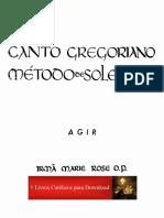 Canto Gregoriano I - Método de Solesmes - Ir. Marie Rose