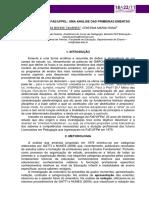 PEDAGOGIA DA FAE UFPEL UMA ANÁLISE DAS PRIMEIRAS EMENTAS - Anais CIC 2013