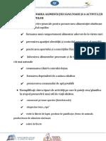 STIL DE VIAȚĂ SĂNĂTOS-APLICATIE - PROMOVAREA ALIMENTAȚIEI portofoliu