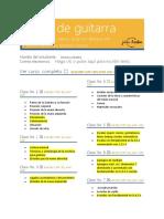 CURSO DE GUITARRA FORMULARIO