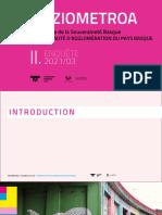Enquête sociologique Pays Basque du 9 juin 2021