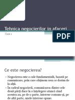 Tehnica Negocierilor Curs 1