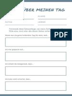 Blaugrün Einfach Satz Anfänge Schreiben Aufforderung Arbeitsblatt