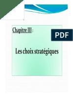 Choix Strategiques