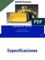 Especificaciones WA1200-6 Compartir