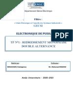 Tp n1 Bonlougou Ouenigamou Redressement Monophase