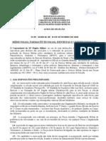Ministério da Defesa - Informações sobre ingresso (2010)