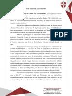 Nota de Esclarecimento - Tribunal de Contas do DF