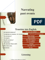 Everyday English. Narrating past events. Spark 2