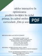 Rolul metodelor interactive