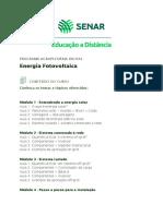 Conteúdo programático energia fotovoltaica
