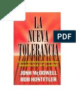 La nueva tolerancia - Josh Mcdowell